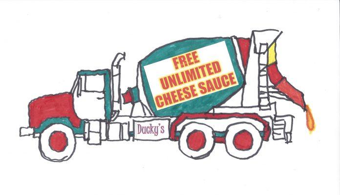 APISH - free unlimited cheese sauce truck (1)